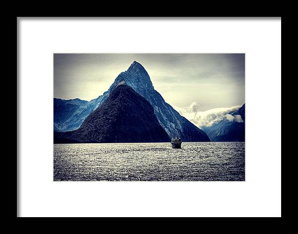 Milford Sound Framed Print featuring the photograph Milford Sound I by Andrei SKY