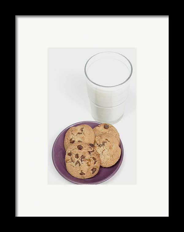 Appetite Framed Print featuring the photograph Milk And Cookies by Greenwood GNP