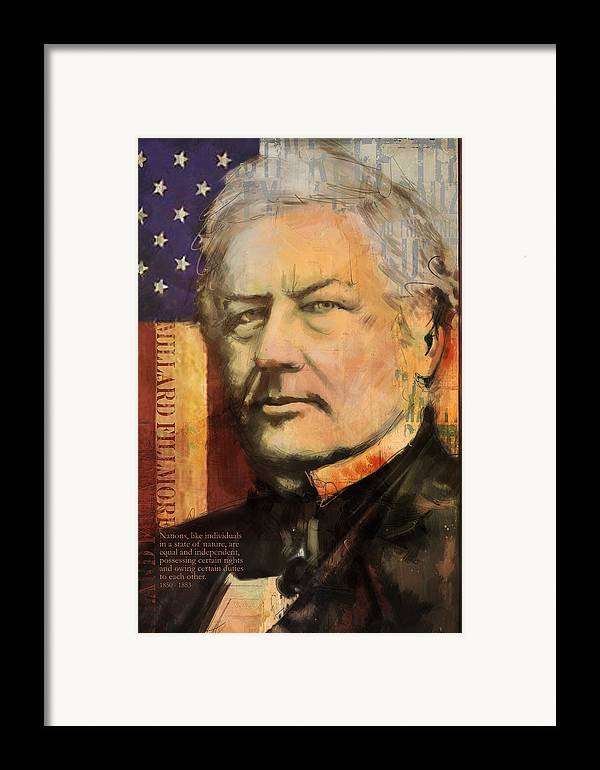 Millard Fillmore Framed Print featuring the painting Millard Fillmore by Corporate Art Task Force