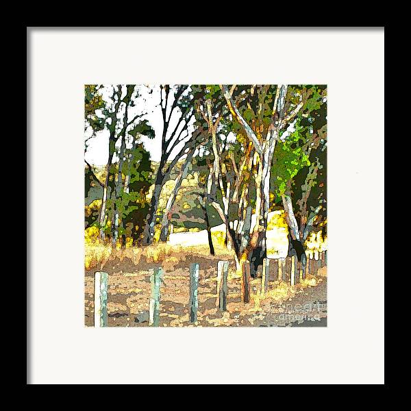 Trees Framed Print featuring the painting Miller Road by Artist and Photographer Laura Wrede