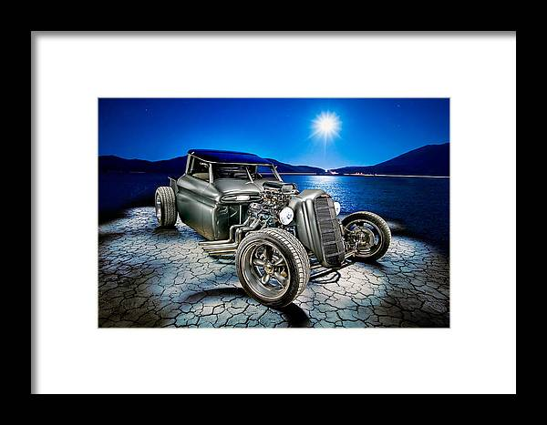 Car Framed Print featuring the photograph Millers Chop Shop 1964 Gmc Truck by Yo Pedro