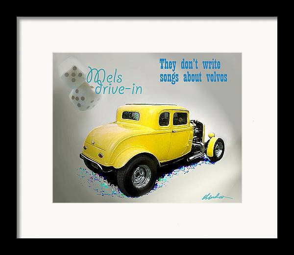 American Graffiti Framed Print featuring the photograph Milners Coupe by Barry Cleveland