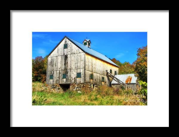 Barn Framed Print featuring the photograph Milton Barn In Orton by Deborah Benoit