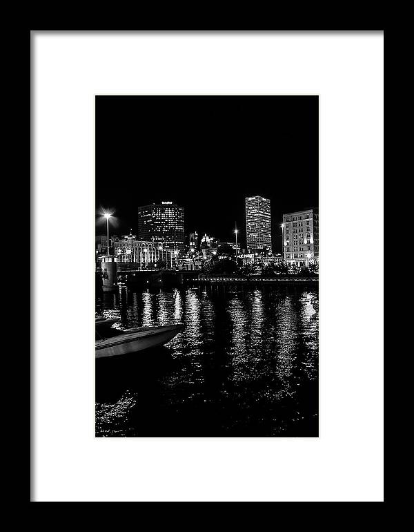 Milwaukee Framed Print featuring the photograph Milwaukee Downtown Third Ward by Susan McMenamin