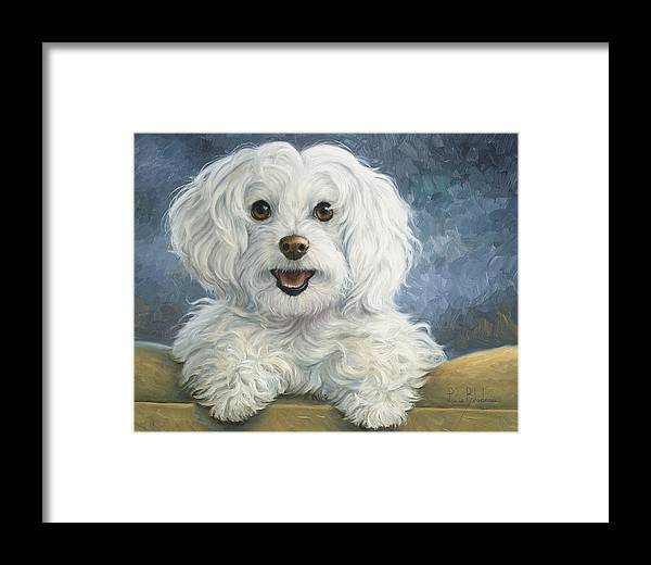Dog Framed Print featuring the painting Mimi by Lucie Bilodeau