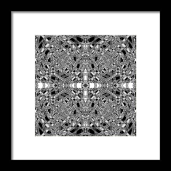 Abstract Framed Print featuring the digital art B W Sq 5 by Mike McGlothlen