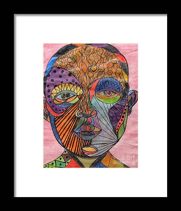 Colorful Framed Print featuring the drawing Mind Warp by Jeanne Ward