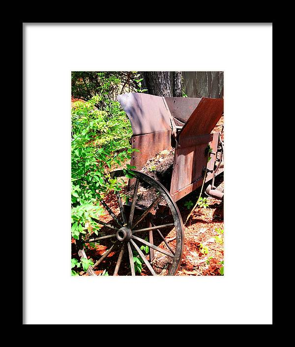 Mineral Framed Print featuring the photograph Mine Cart Lost In Time V2 by John Straton