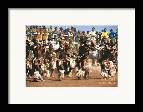 South Africa Framed Print featuring the photograph Mine Dancers South Africa by Susan McCartney