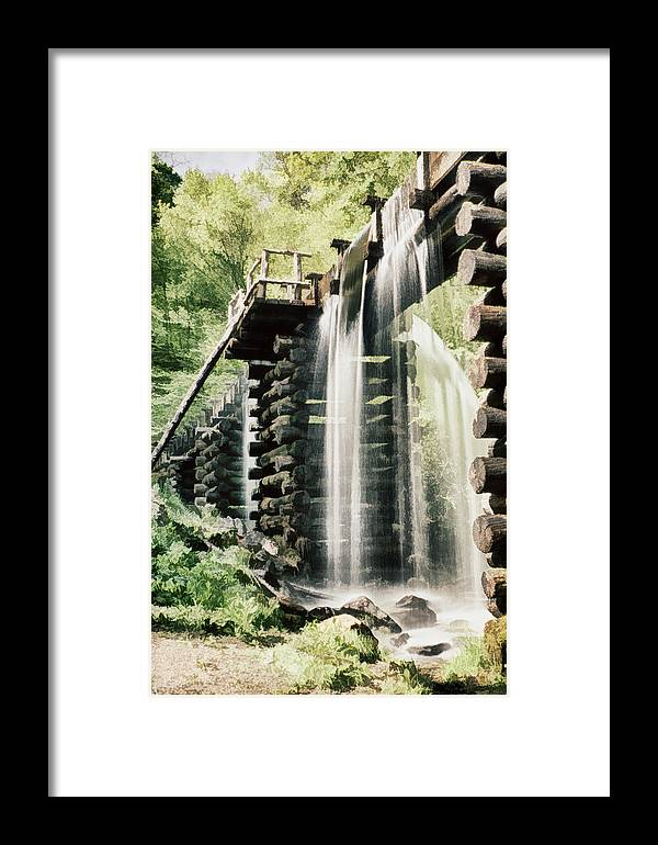 Mingus Mill Framed Print featuring the photograph Mingus Mill Millrace by Priscilla Burgers