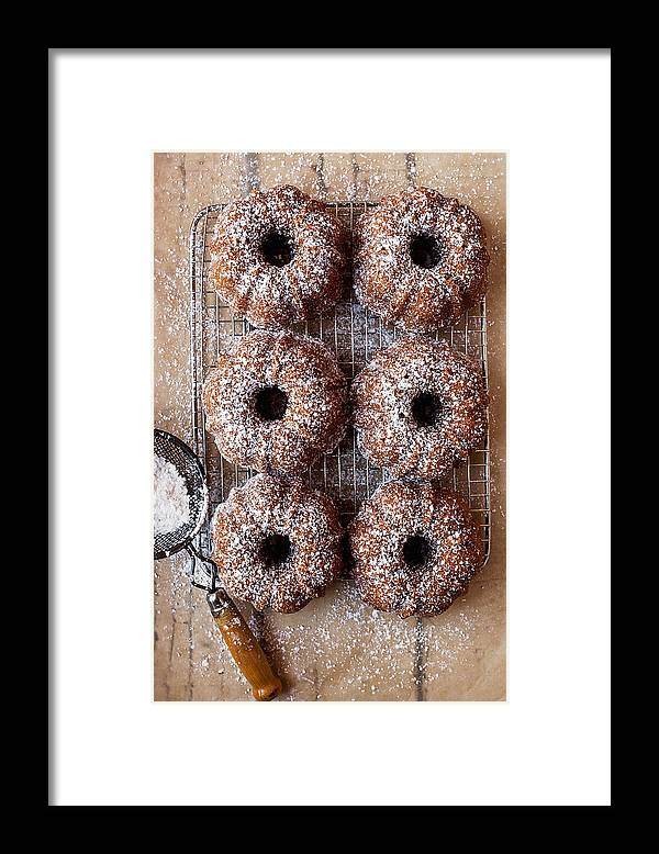 San Francisco Framed Print featuring the photograph Mini Vegan Lemon Coconut Bundt Cakes by One Girl In The Kitchen