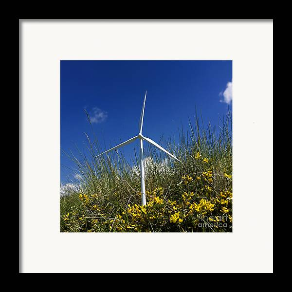 Scale Framed Print featuring the photograph Miniature Wind Turbine In Nature by Bernard Jaubert