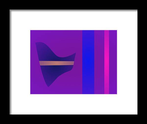 Gradation Framed Print featuring the digital art Minimalism Purple by Masaaki Kimura