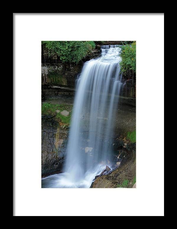 Minnehaha Falls Framed Print featuring the photograph Minnehaha Falls by Kristin Elmquist