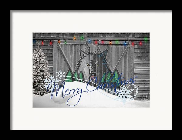 Timberwolves Framed Print featuring the photograph Minnesota Timberwolves by Joe Hamilton