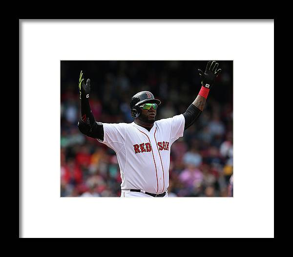 People Framed Print featuring the photograph Minnesota Twins V Boston Red Sox - Game by Jim Rogash