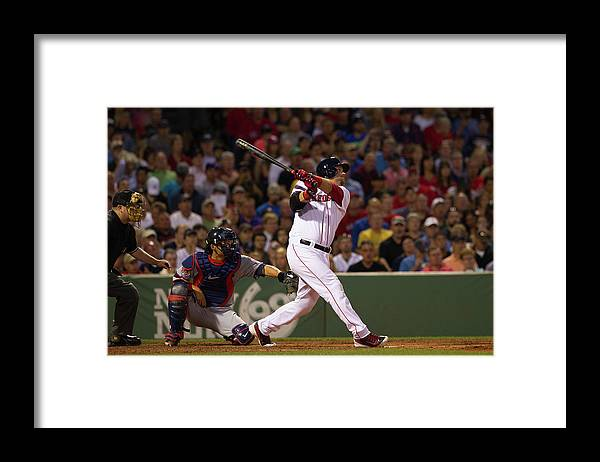 American League Baseball Framed Print featuring the photograph Minnesota Twins V Boston Red Sox by Rich Gagnon