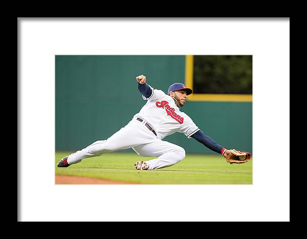 American League Baseball Framed Print featuring the photograph Minnesota Twins V Cleveland Indians by Jason Miller