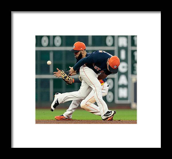 Alex Bregman Framed Print featuring the photograph Minnesota Twins v Houston Astros by Bob Levey