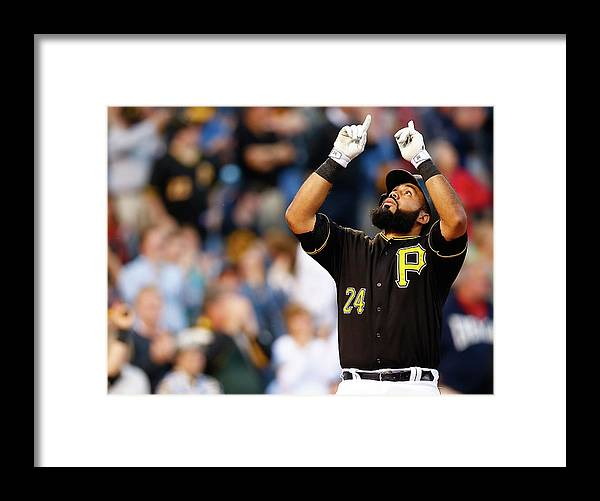 People Framed Print featuring the photograph Minnesota Twins V Pittsburgh Pirates by Jared Wickerham