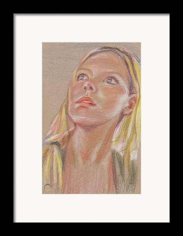 Portrait Framed Print featuring the painting Mirando A La Derecha by Horacio Prada