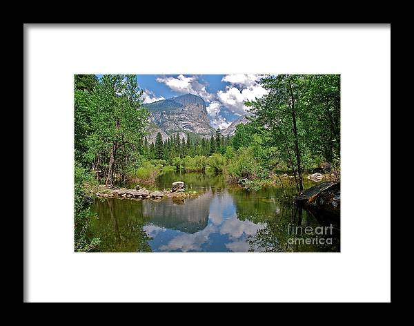 Mirror Lake Framed Print featuring the photograph Mirror Lake Yosemite by Amy Fearn