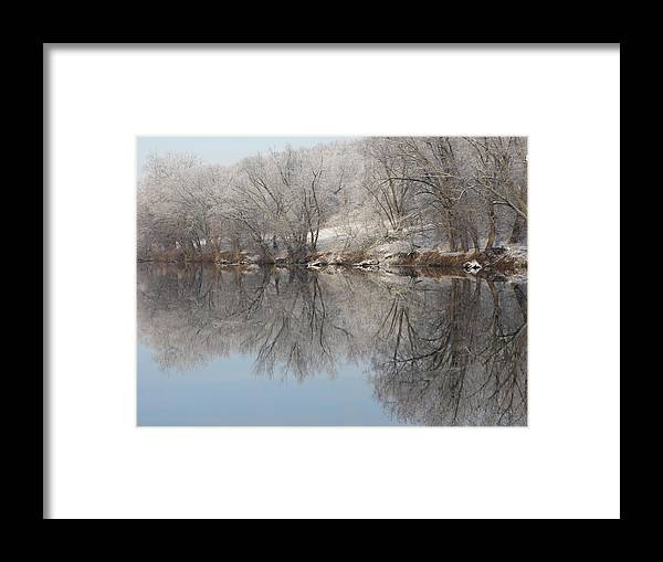 Landscape Framed Print featuring the photograph Mirrored Image by Laura Corebello