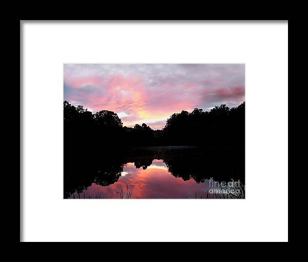Sunset Framed Print featuring the photograph Mirrored In The Lake by Scott B Bennett