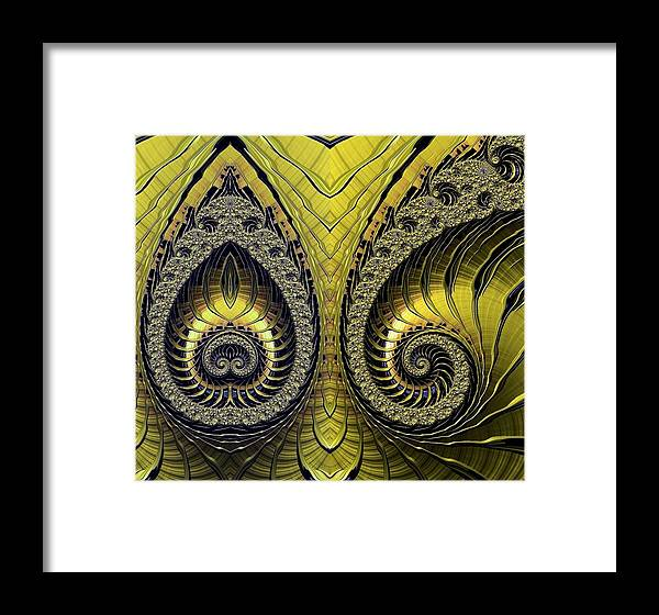 Fractal Framed Print featuring the digital art Mirrored by Ron Bissett