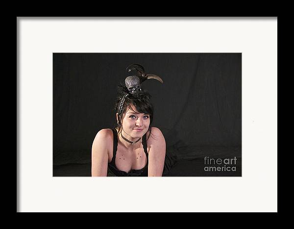 Photography Framed Print featuring the photograph Misha In Black 3 by Sean Griffin