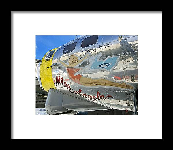 Pin-up Girl Framed Print featuring the photograph Miss Angela by Cheri Randolph