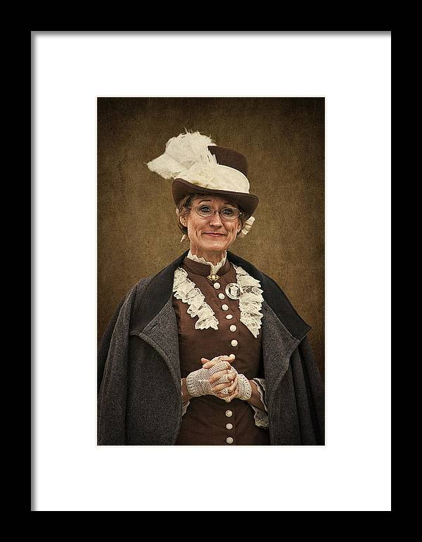 Miss Prim Framed Print featuring the photograph Miss Prim by Priscilla Burgers