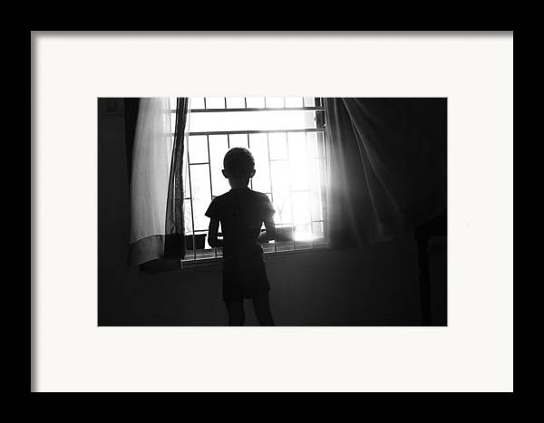 Child Framed Print featuring the photograph Missing Daddy by Dexter Browne