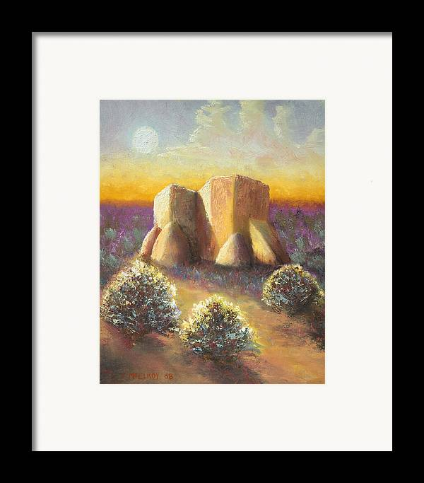 Landscape Framed Print featuring the painting Mission Imagined by Jerry McElroy