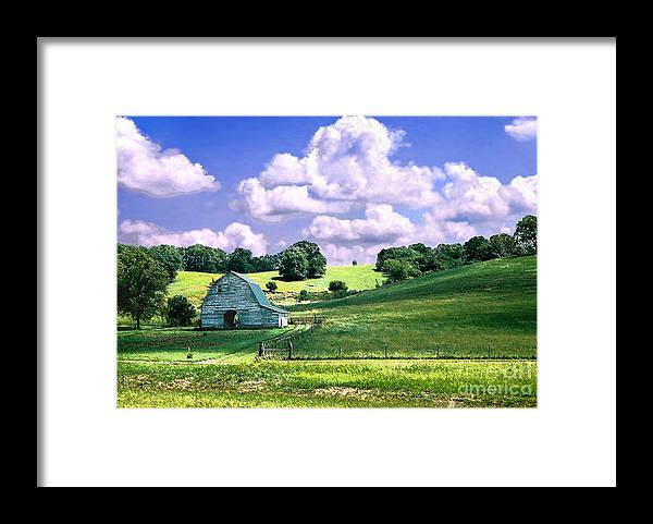Landscape Framed Print featuring the photograph Missouri River Valley by Steve Karol