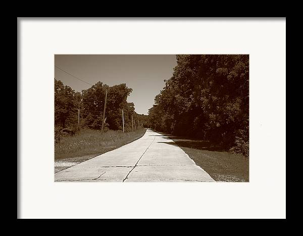 66 Framed Print featuring the photograph Missouri Route 66 2012 Sepia. by Frank Romeo