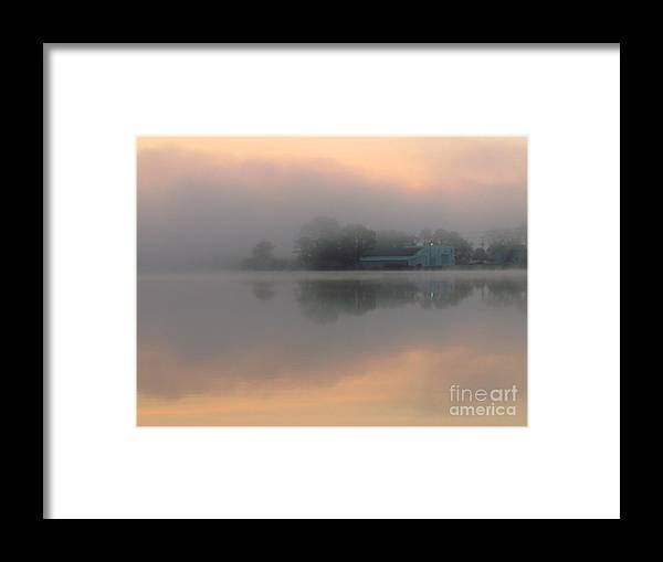 Nature Framed Print featuring the photograph Mist At Dawn 02 by Rrrose Pix