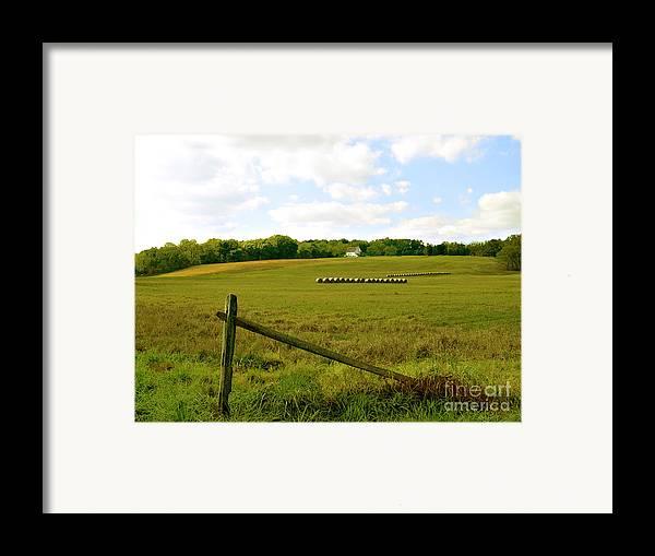 Misty Hills Farm Framed Print featuring the photograph Misty Hills Farm by Addie Hocynec