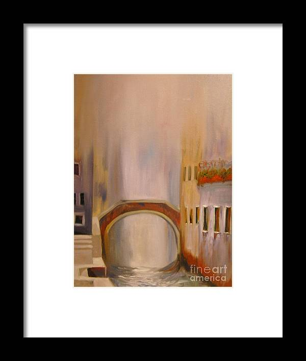 Venice Framed Print featuring the painting Misty Morning In Venice by Nancy Bradley