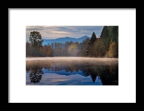 Borst Lake Framed Print featuring the photograph Misty Morning by Manju Shekhar