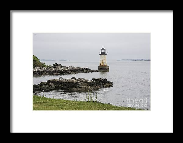 Fog Framed Print featuring the photograph Misty Night by Ruth H Curtis
