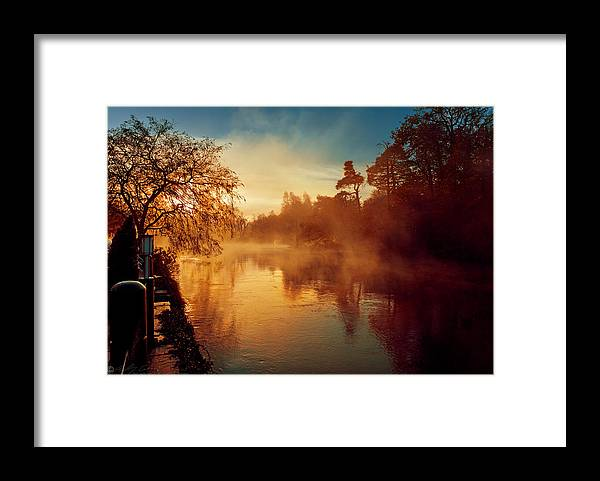 River Framed Print featuring the photograph Misty River by Beverly Cash
