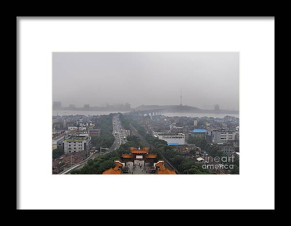 China Framed Print featuring the photograph Misty Wuhan by Matt Malloy