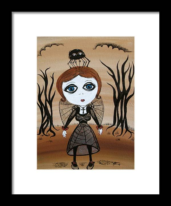Gothic Framed Print featuring the painting Miz Goth by Sue Wright