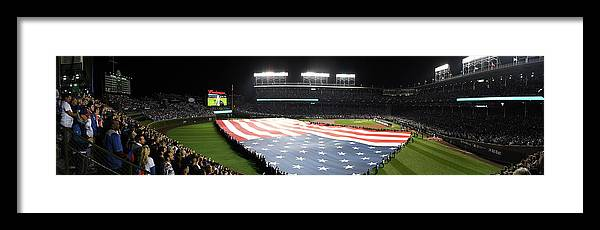 Playoffs Framed Print featuring the photograph Mlb Oct 28 World Series - Game 3 - by Icon Sportswire