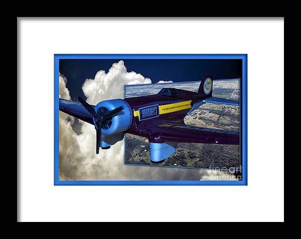 Out Of Bounds Framed Print featuring the photograph Model Planes Hershey 01 by Thomas Woolworth