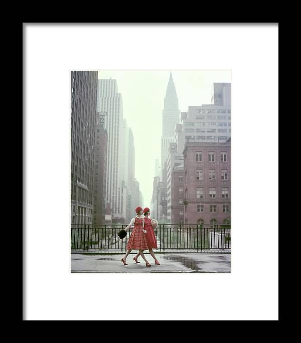 Accessories Framed Print featuring the photograph Models In New York City by Sante Forlano