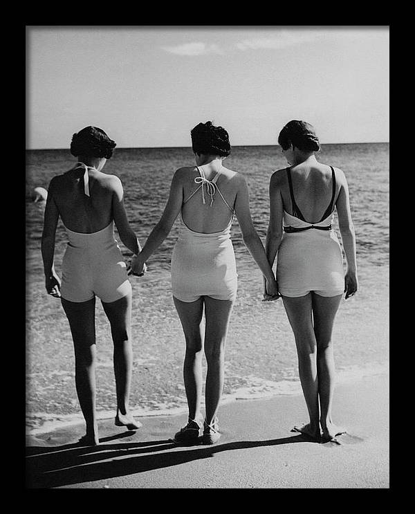 Models On A Beach by Toni Frissell