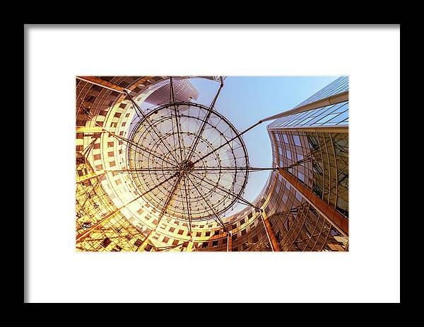 Corporate Business Framed Print featuring the photograph Modern Architecture With Sun Shade by Warchi