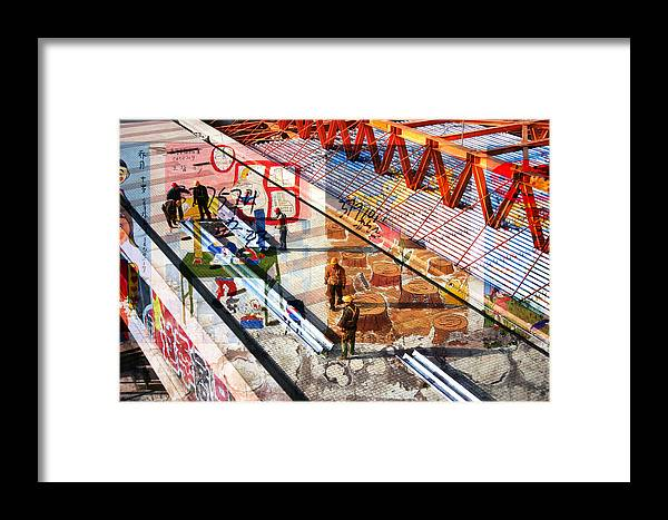 City Framed Print featuring the photograph Modern Buildings Bejing China by Jean Schweitzer